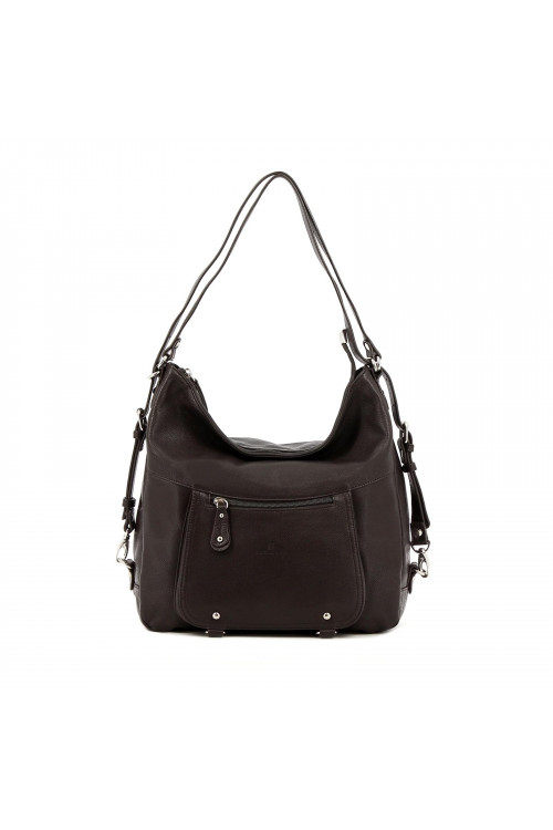 Sac transformable en cuir de vachette