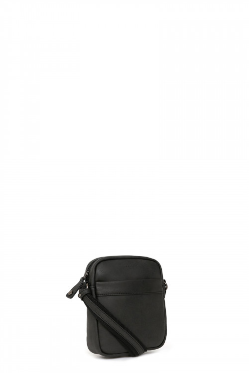 9077fe14b Nylon with glazed cowhide leather small cross-body bag