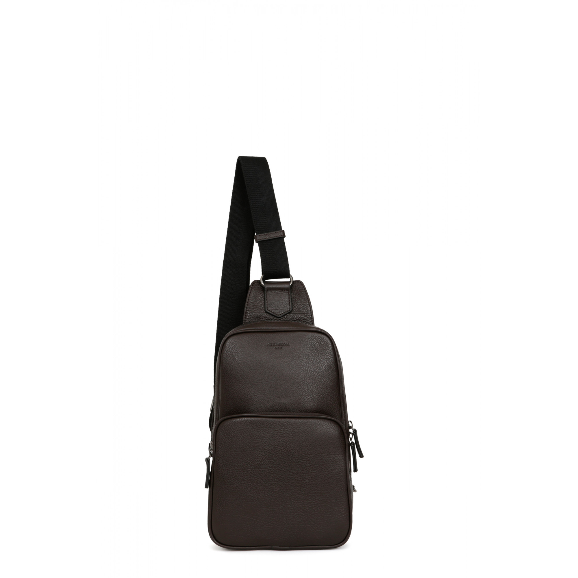 Leather one strap backpack