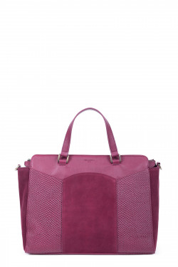 Snake printed and velvet leather handle bag