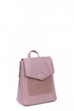 Snake printed leather backpack