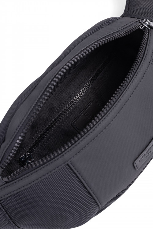 Nylon with split leather bum bag