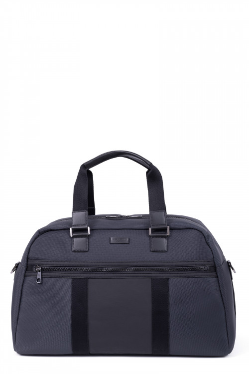 Nylon with split leather travel bag