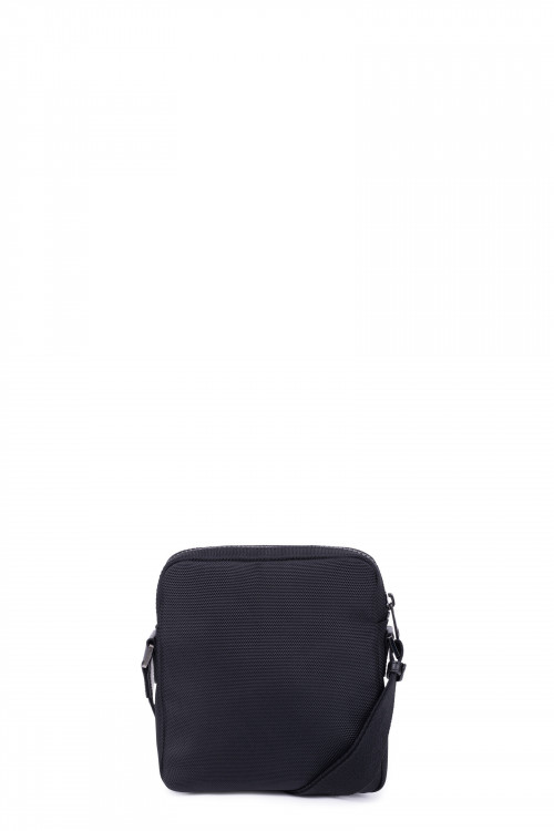 Nylon with split leather small crossbody bag
