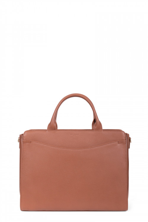 Grained leather handle bag