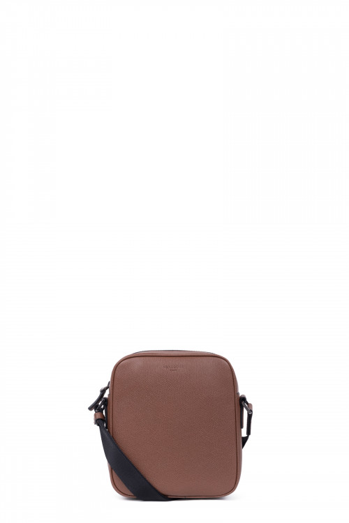 Premium grained leather small crossbody bag