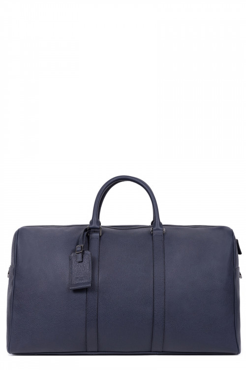 Premium grained leather travel bag