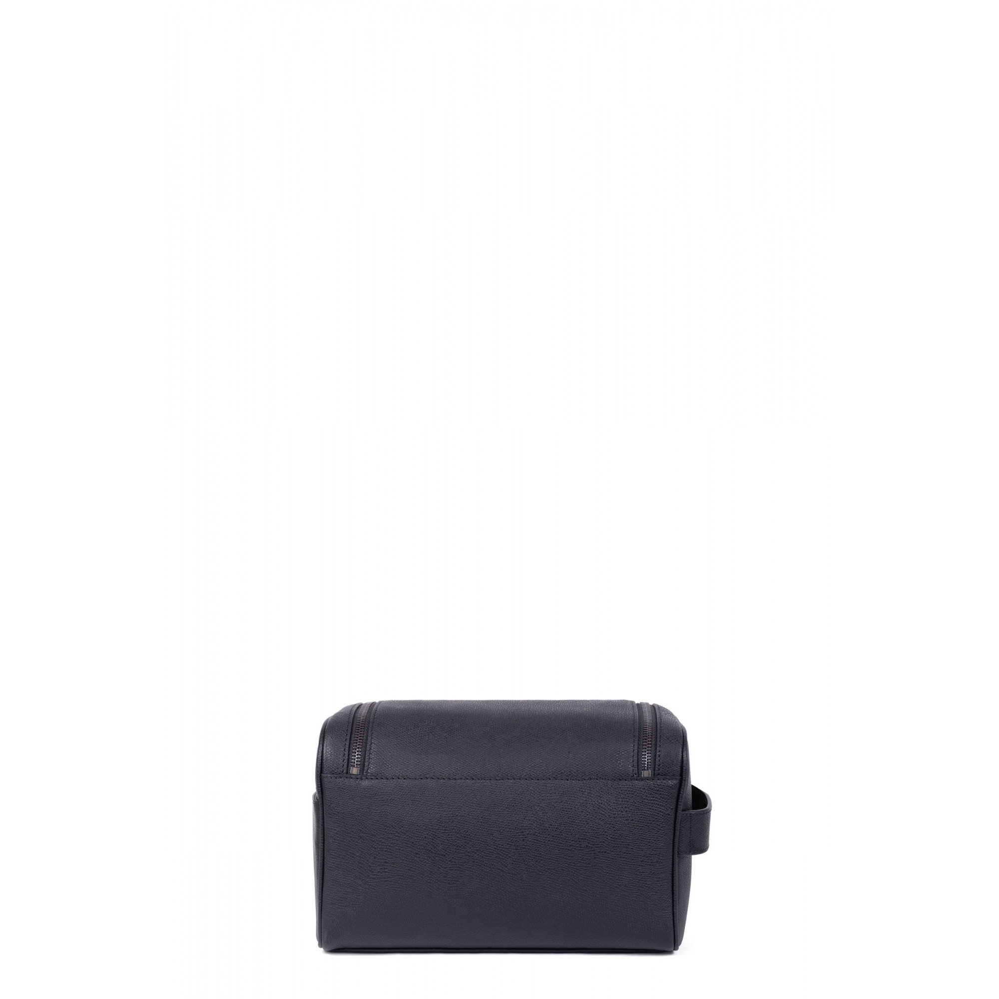 Premium grained leather toiletry bag