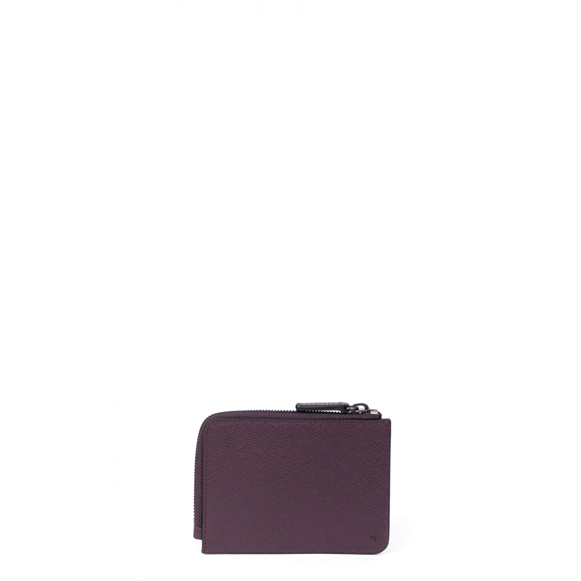 Premium grained leather purse