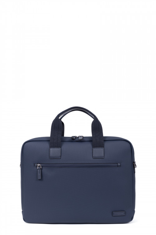 Synthetic with split leather computer bag