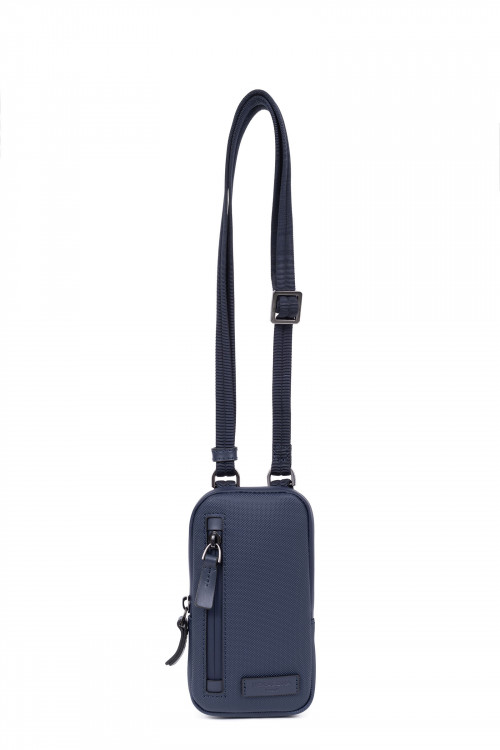 Synthetic with split leather small crossbody bag