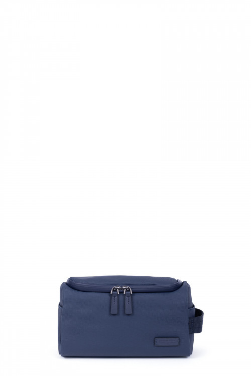 Synthetic with split leather toiletry bag