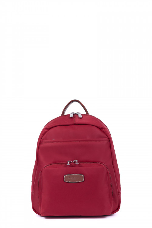 Nylon with split leather backpack