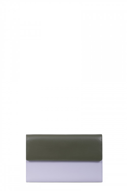 Dull smooth split leather wallet