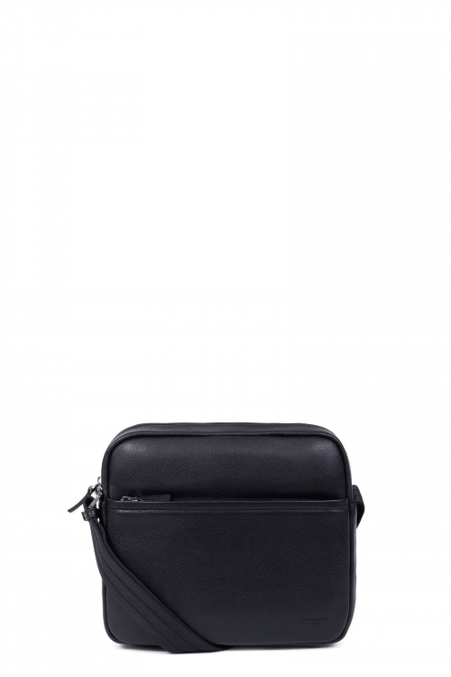 Grained leather small crossbody bag