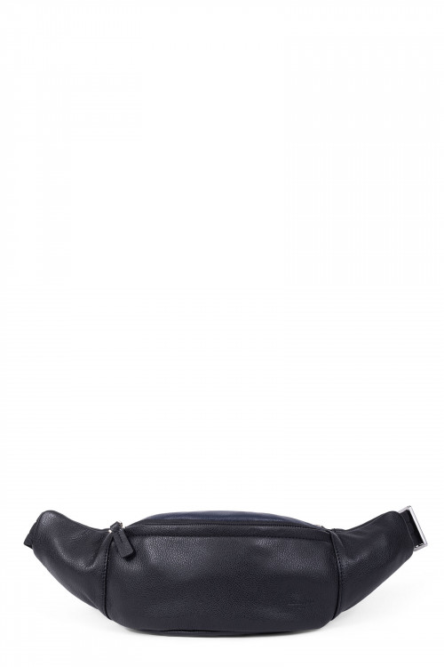Grained leather bum bag