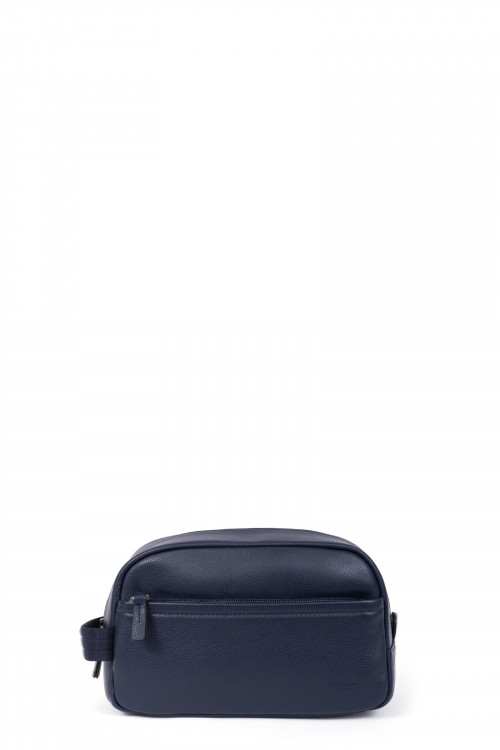 Grained leather toiletry bag