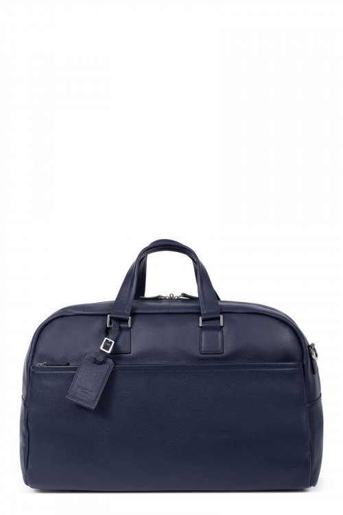 Grained leather travel bag