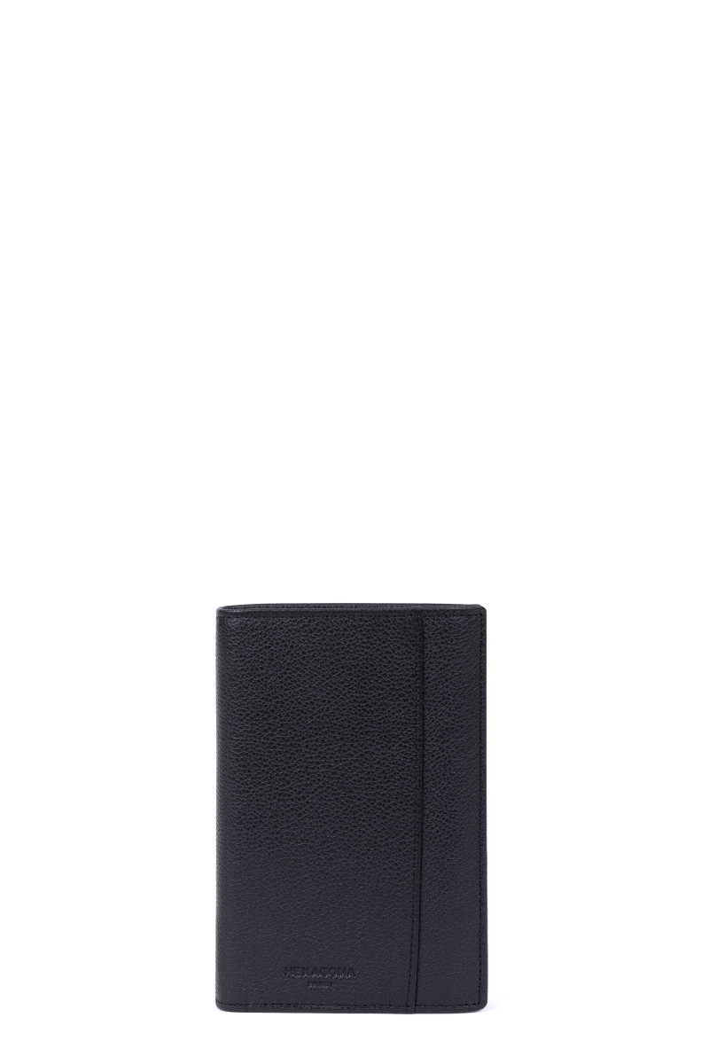 European grained leather wallet