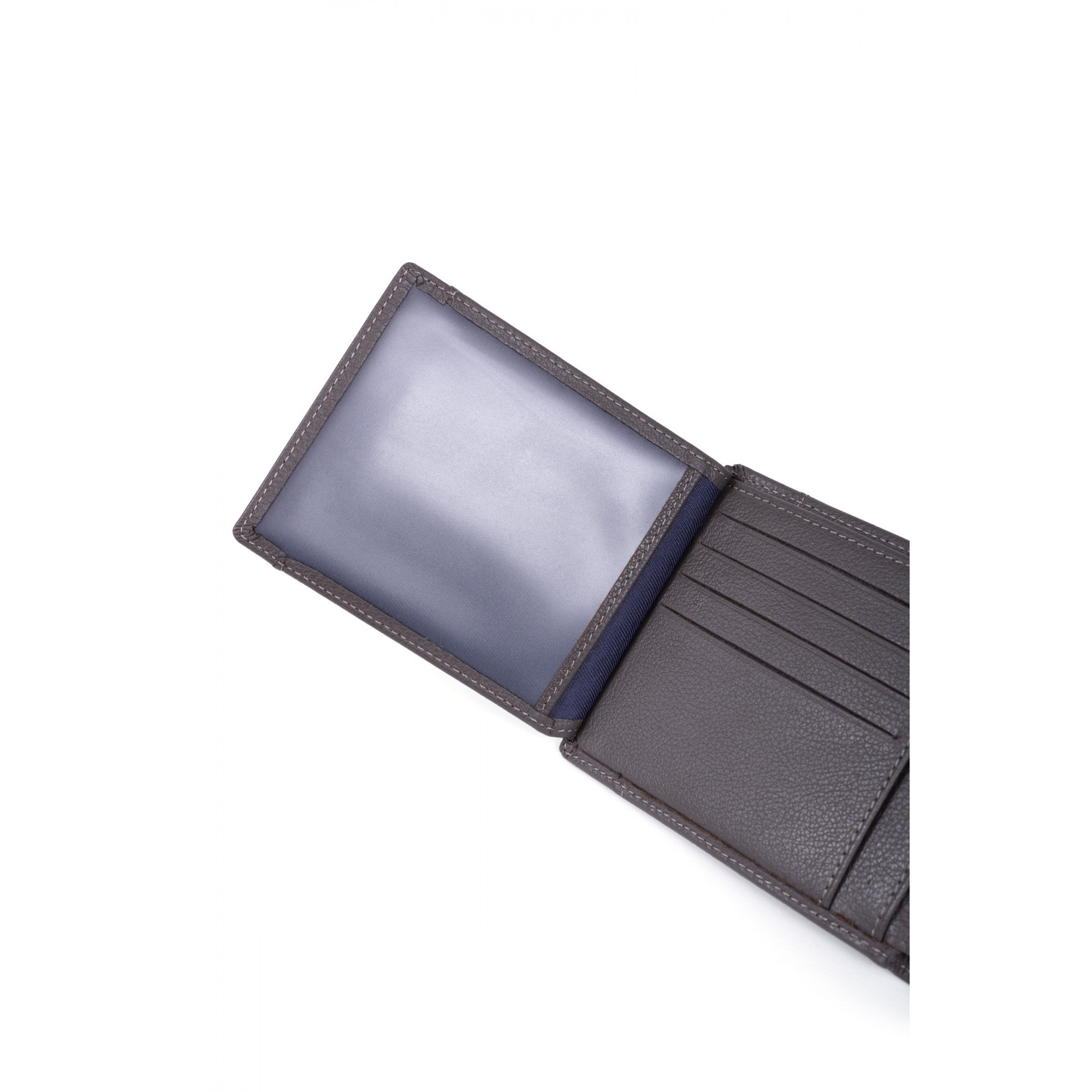 Grained leather wallet
