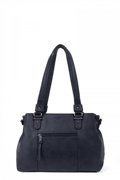 Synthetic 2 handles shoulder bag