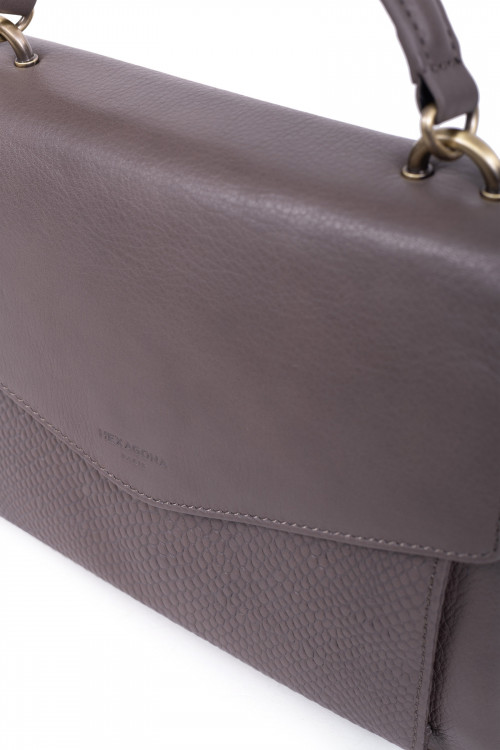 Leather handle bag