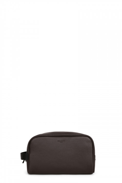 Buffalo grained leather toiletry bag