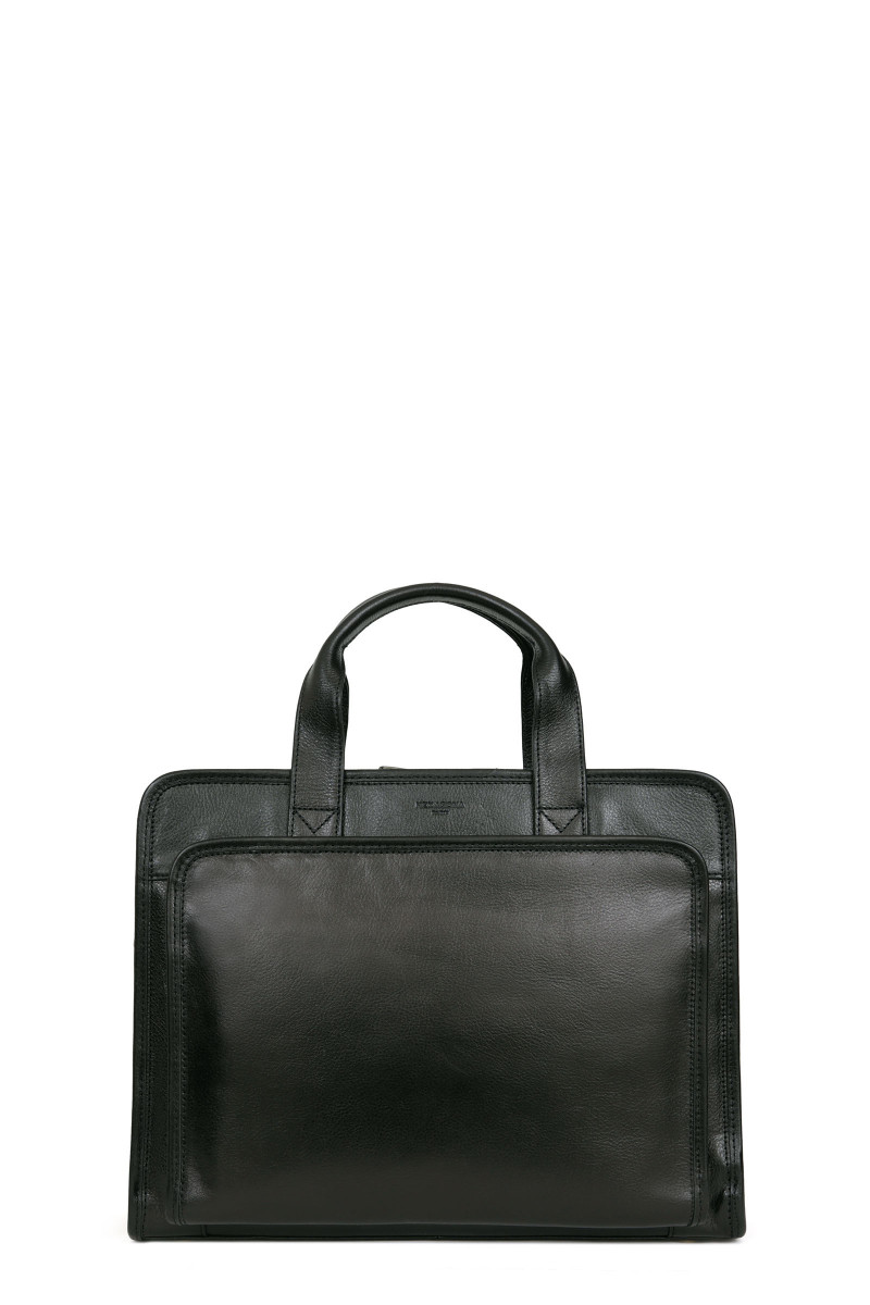 Vegetable tanned neck leather computer bag