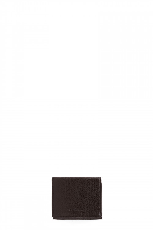 Buffalo grained leather purse