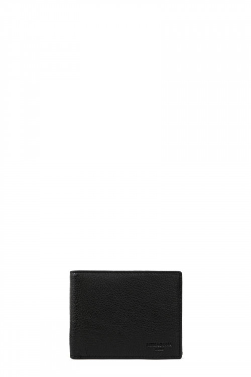Buffalo grained leather wallet