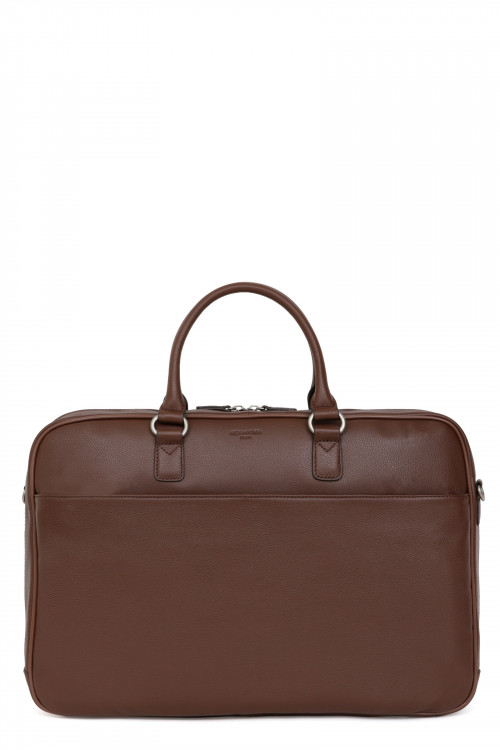 "Leather 17"" laptop bag"