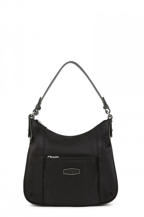 Nylon with split leather 1 handle shoulder bag