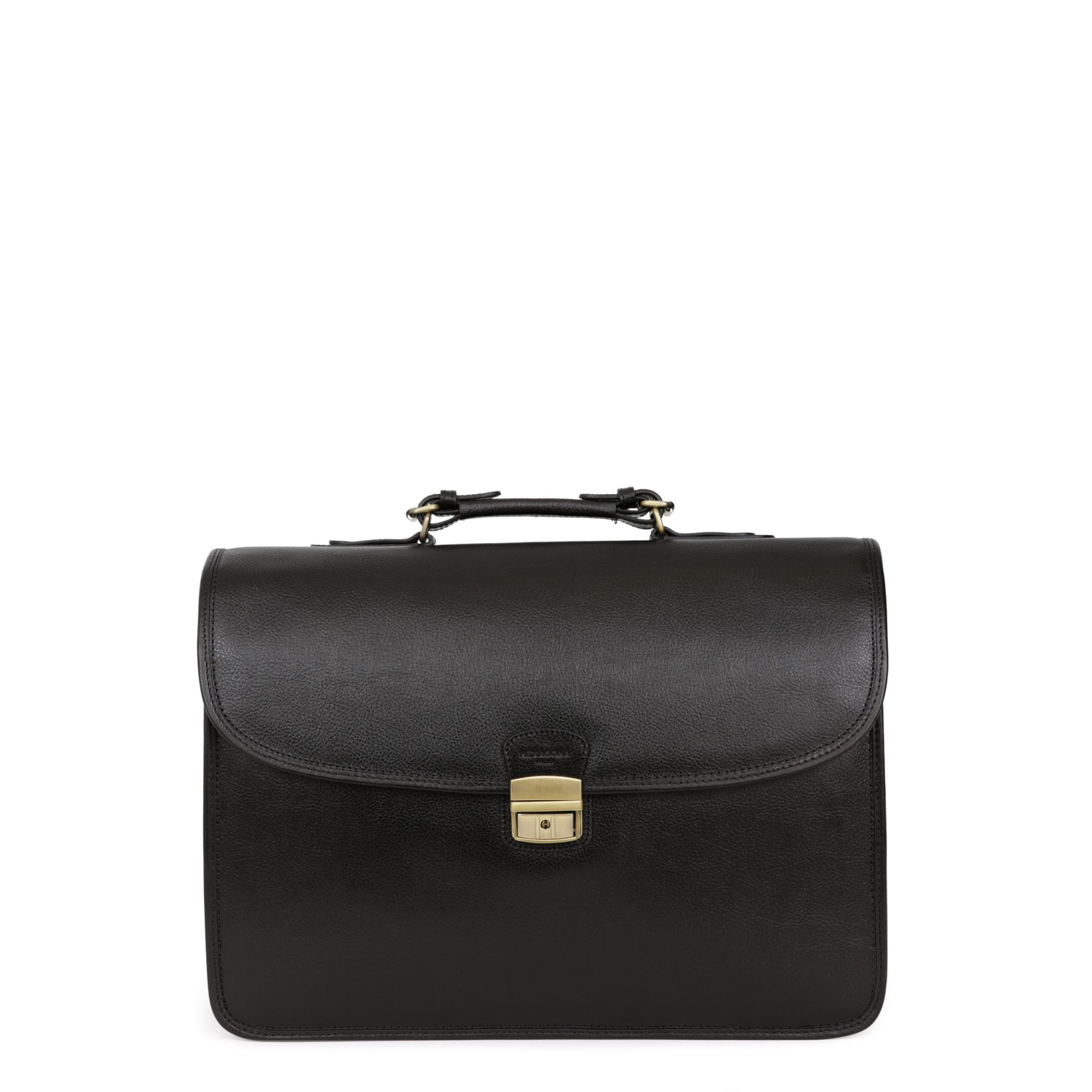 Leather 3 gussets satchel