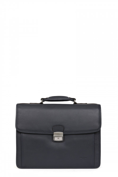 Leather 2 gussets satchel