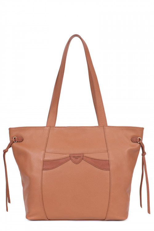 A4 Leather tote bag
