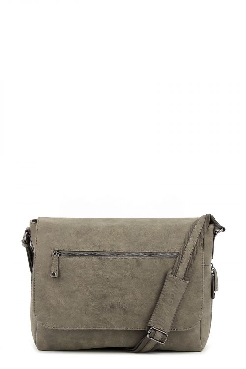 Synthetic  flap crossbody bag