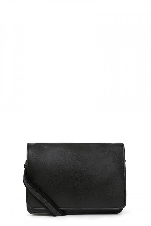 Leather flap crossbody bag