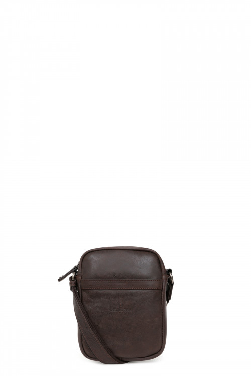 Leather small messenger bag