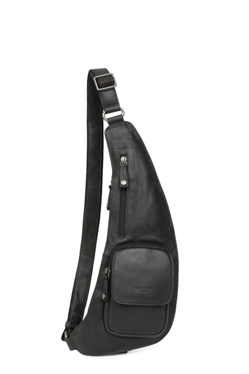 Leather monostrap backpack