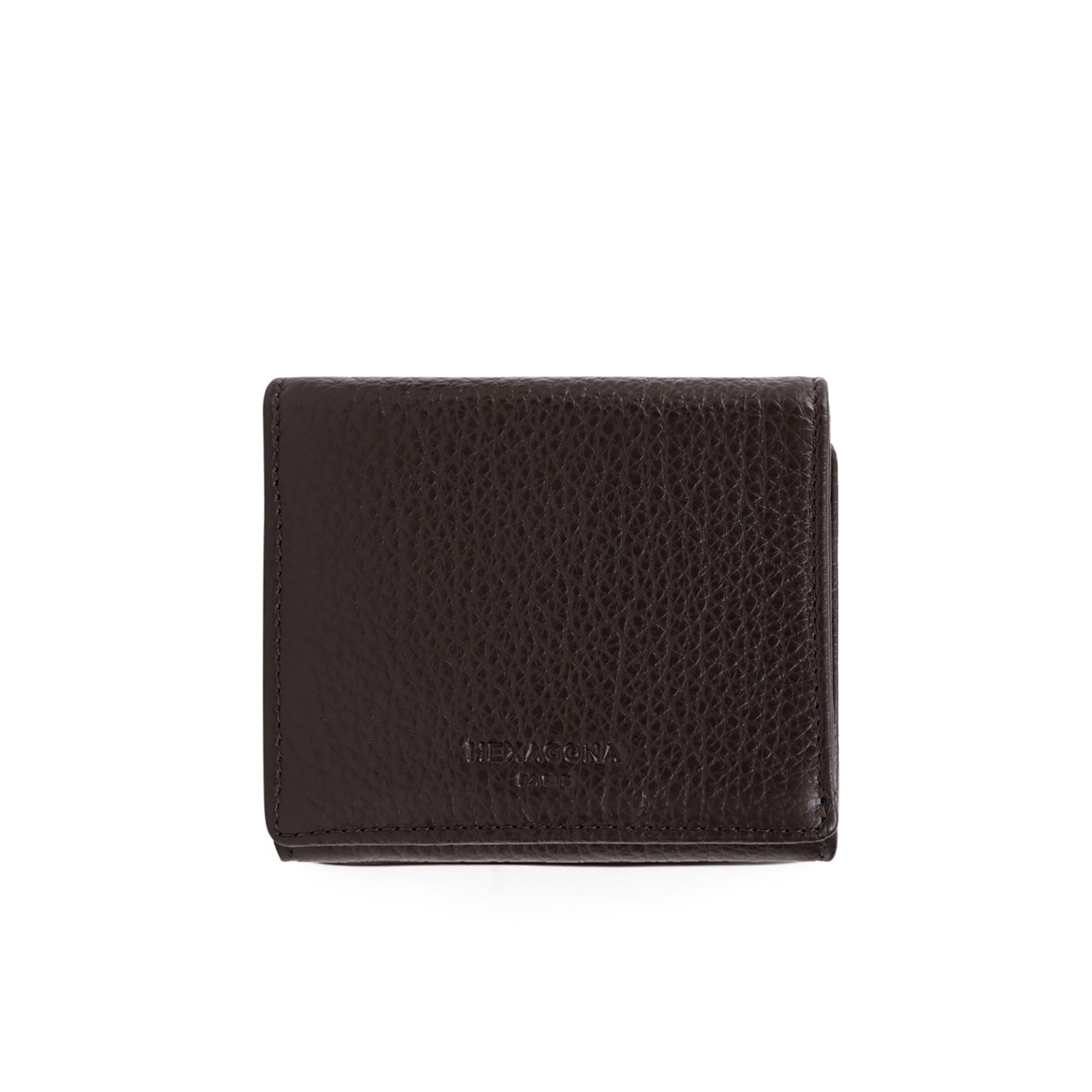 Buffalo grained leather purse