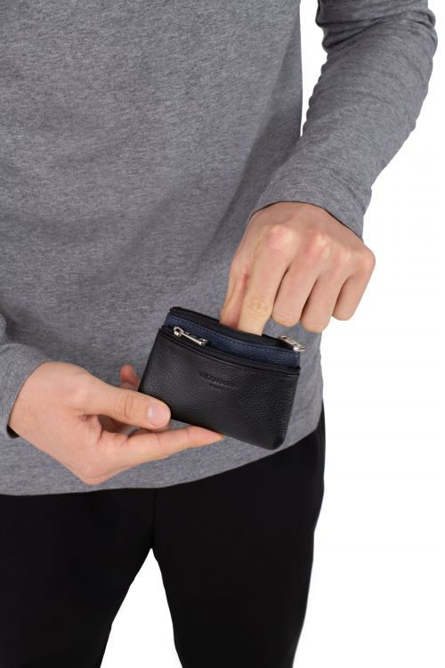 Leather leather purse stop RFID